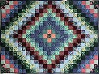 Calico Hit or Miss Crib Quilt