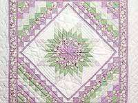 Lavender and Green Lone Star Trip Wall Hanging