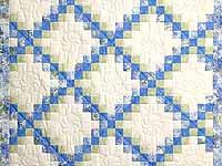 Pastel Blue and Willow Irish Chain Crib Quilt