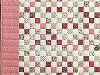 Rosy Pink and Cream Blocks Crib Quilt