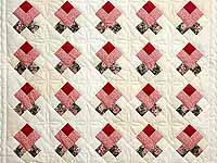 Rosebud Nine Patch Crib Quilt