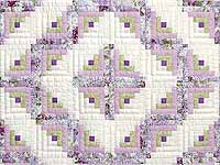Lilac and Green Log Cabin Crib Quilt