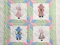 Pastel Sunbonnet Sue Crib Quilt