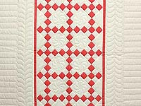 Salmon and Cream Nine Patch Crib Quilt