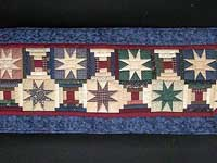 Blue and Multi Court Step Stars Runner