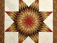 Gold Red and Cream Lone Star Wall Hanging