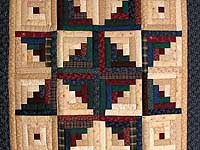 Earth Tones Log Cabin Star Wall Hanging