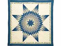 Blue Yellow and Cream Lone Star Wall Hanging