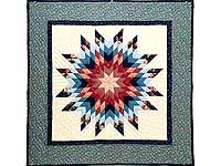 Blue Radiant Star Wall Hanging