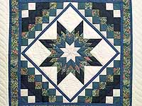Blue Navy and Rose Lone Star Trip Wall Hanging