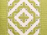 Pistachio Green and Cream Log Cabin Crib Quilt