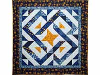 Blue Navy and Gold Celestial Throw