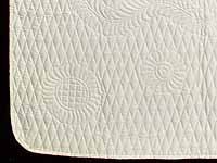 Cream All Quilted Throw
