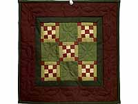 Miniature Nine Patch Quilt