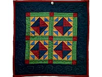Amish Corn and Beans Miniature Quilt