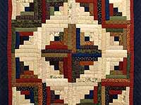 Country Colors Log Cabin Throw