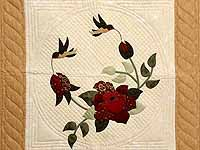 Carmel and Tan Rose Garden Wall Hanging