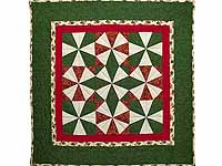 Christmas Colors Kaleidoscope Wall Hanging