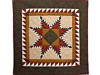 Moss Burgundy and Gold Feathered Star Wall Hanging