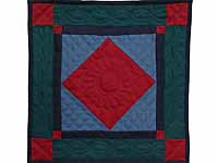 Miniature Amish Center Diamond Quilt