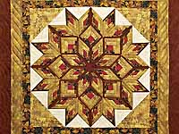 Red and Gold Broken Diamond Star Throw