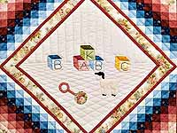 Rose ABC Crib Quilt