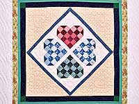 Patchwork Heart Diamond Wall Hanging