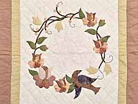 Mauve Vines and Roses Wall Hanging
