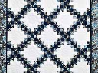 Navy Blue and Cream Irish Chain Crib Quilt
