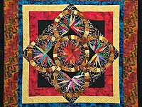 Multicolor Quintuple Compass Star Throw