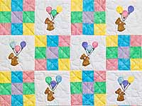 Teddy and Nine Patch Crib Quilt
