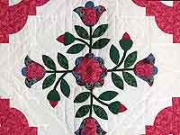 Tulips by the Path Applique Wall Hanging