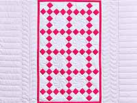 Rose and Cream Nine Patch Crib Quilt