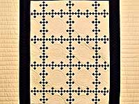 Black and Tan Nine Patch Throw