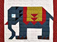 Patriotic Elephant Patchwork Wall Hanging