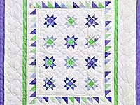 Lavender and Green Ohio Stars Wall Hanging