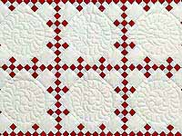 Red and White Nine Patch Throw