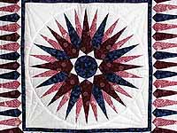 Navy and Burgundy Mariners Compass Wall Hanging