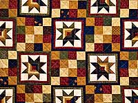 Country Colors Split Log Cabin Stars Throw