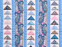 Pastel Flying Geese Crib Quilt