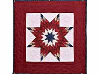 Burgundy and Blue Lone Star Wall Hanging