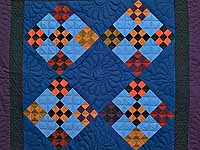 Amish Double Nine Patch Wall Hanging