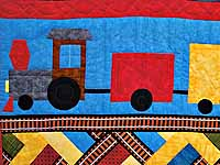Theo Train Crib Quilt