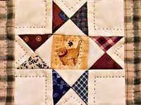 Miniature Ohio Stars with Cats Quilt