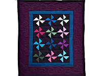Miniature Almost Amish Pinwheel Quilt