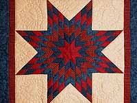 Navy and Burgundy Lone Star Wall Hanging