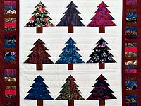 Christmas Trees Wall Hanging