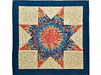 Blue Coral and Tan Lone Star Wall Hanging