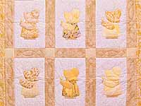 Golden Yellow Sunbonnet Sue Crib Quilt