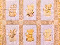 Golden Yellow Sunbonnet Sue Crib Quilt